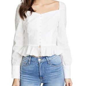 Lioness Tops - White Sweetheart Top